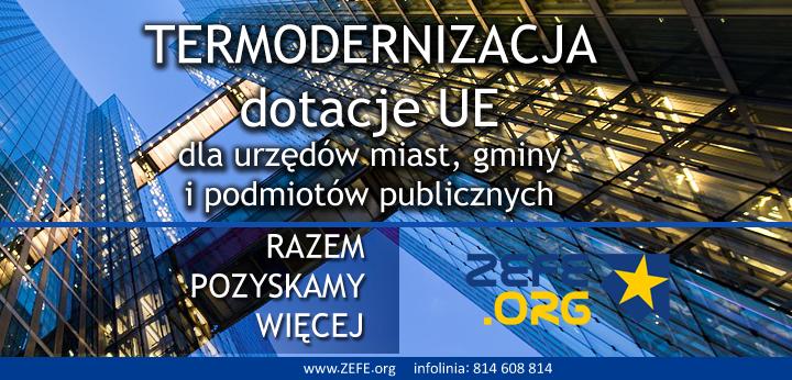 dotacje termomodernizajca dla urzędów miasta i gminy