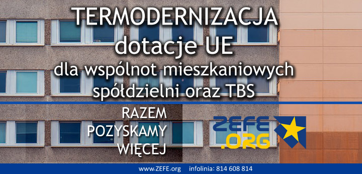 dotacje na termomodernizajce dla wspolnot mieszkaniowych, spoldzielni i TBS