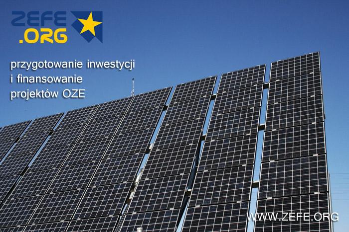 inwestyje OZE - pozyskanie dotacji - finansowanie UE